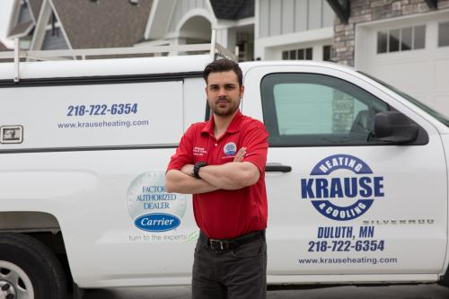 krause heating and cooling truck duluth